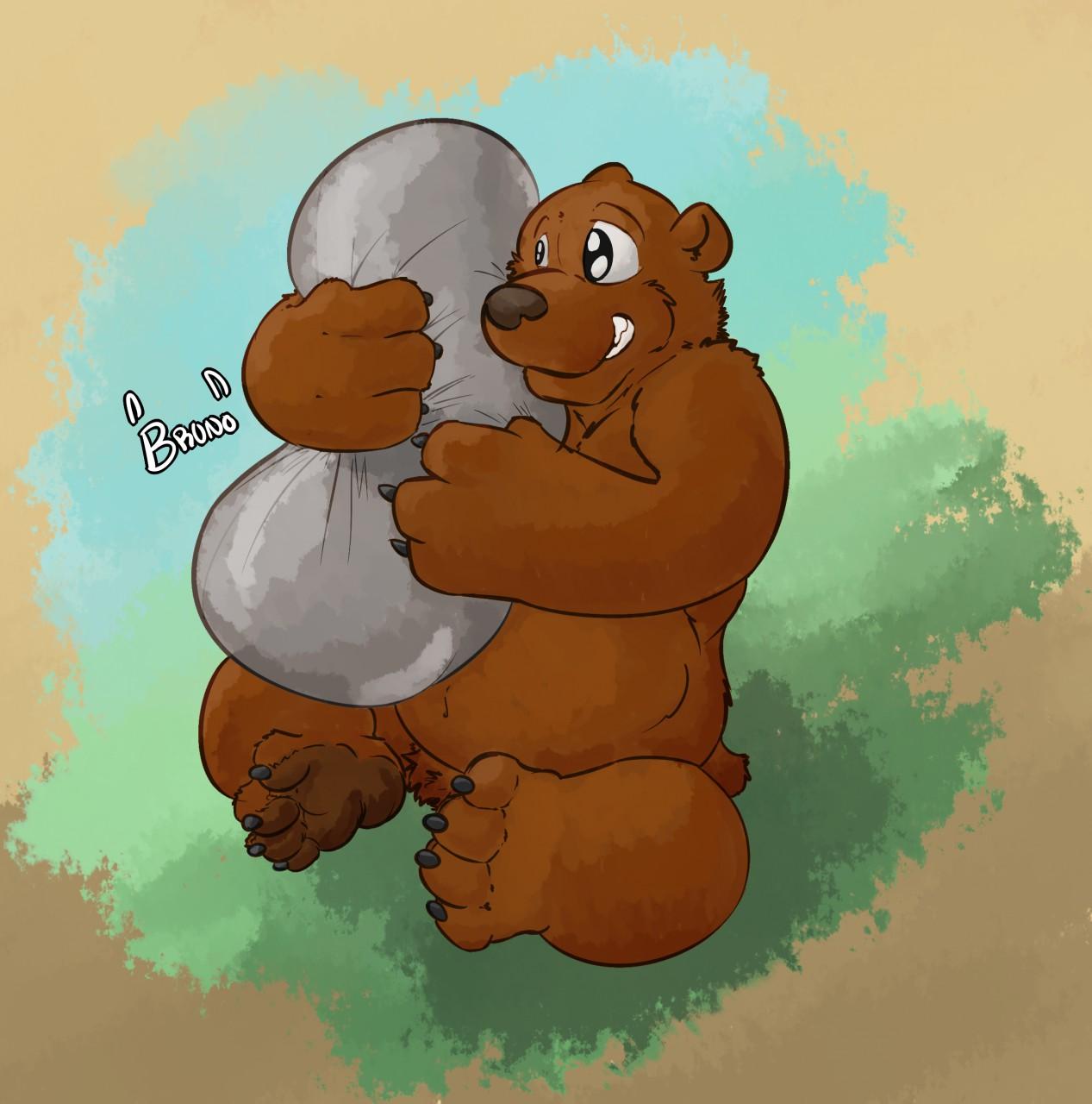 Bear cartoon XXX zoophile looking