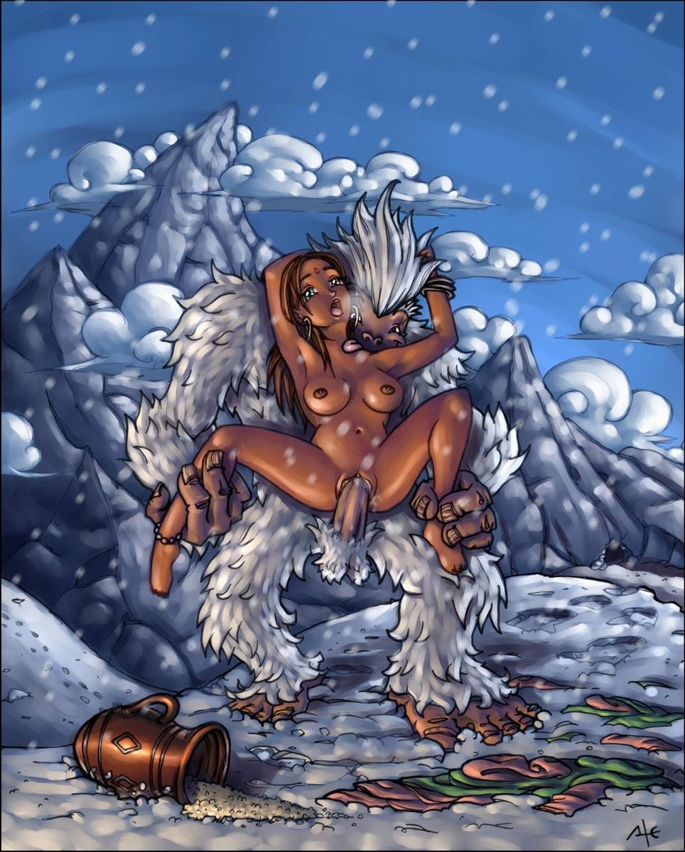 порно про снежного человека