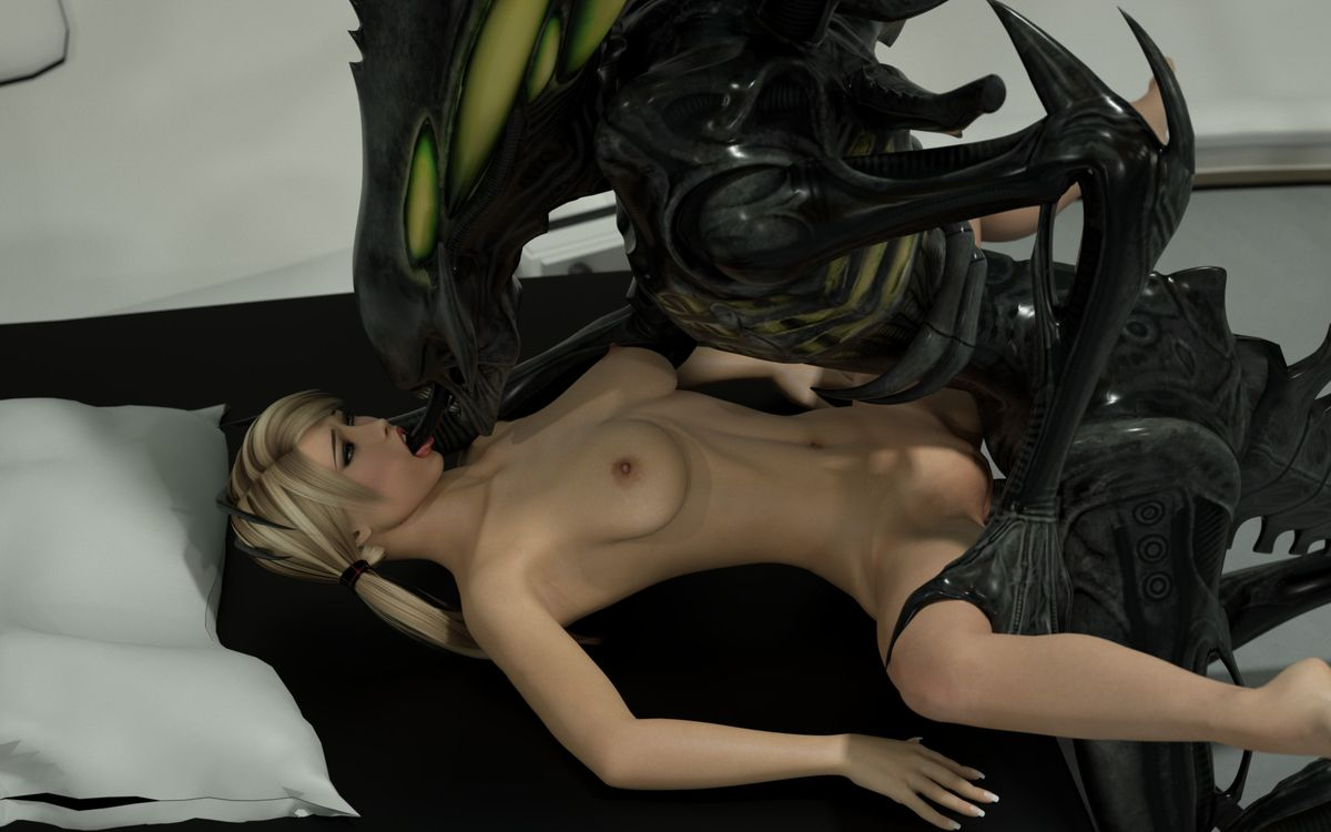 Excellent An alien sex strip with color above