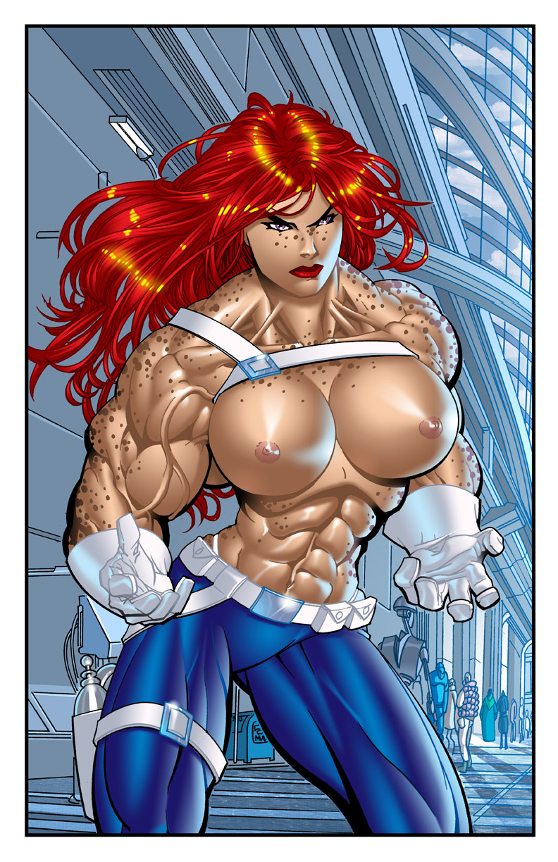 Redhead hentai girl