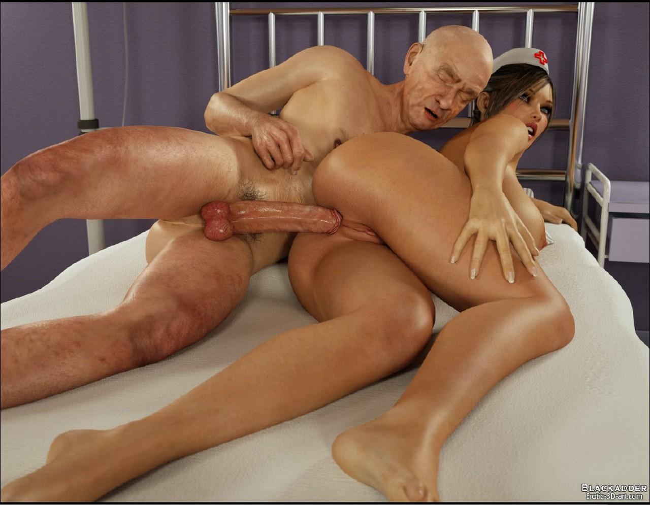 Секс медсистра и старик