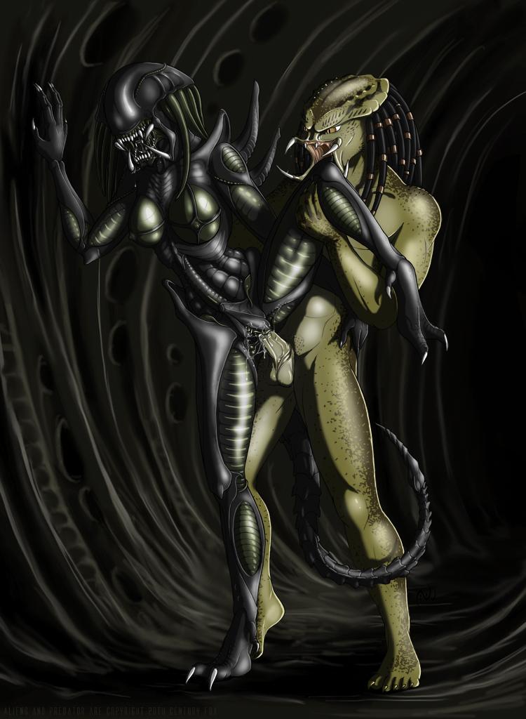порно чужой и хищник