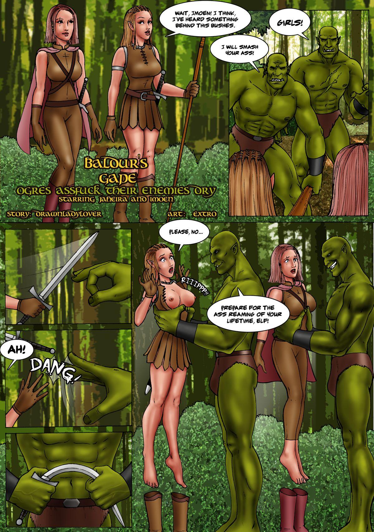 Extro Baldur S Gape Ogres Assfuck Their Enemies Dry Baldur S Gate Hentai Online Porn Manga