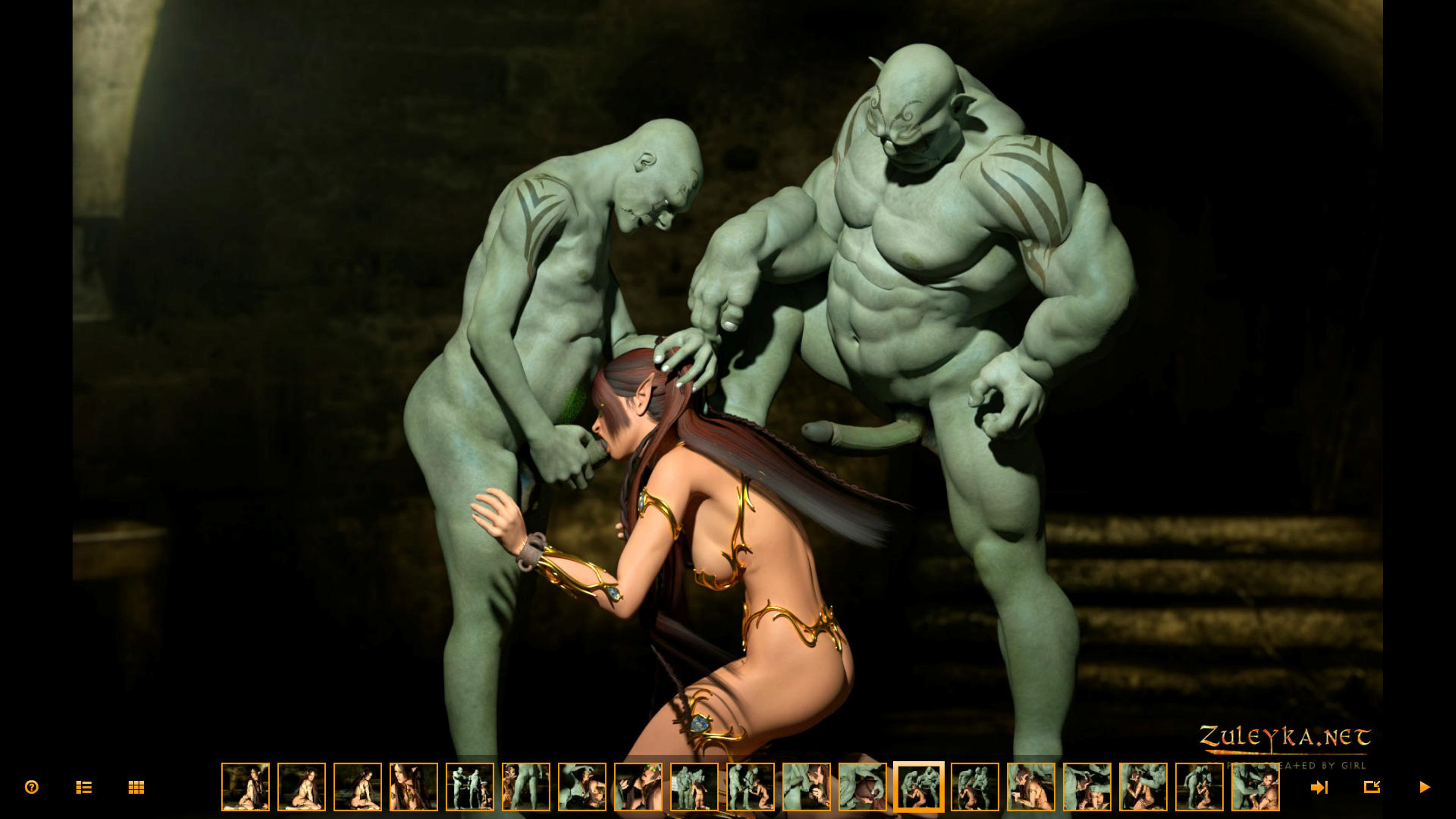 Elf sex slave for orcs hentai erotic toons