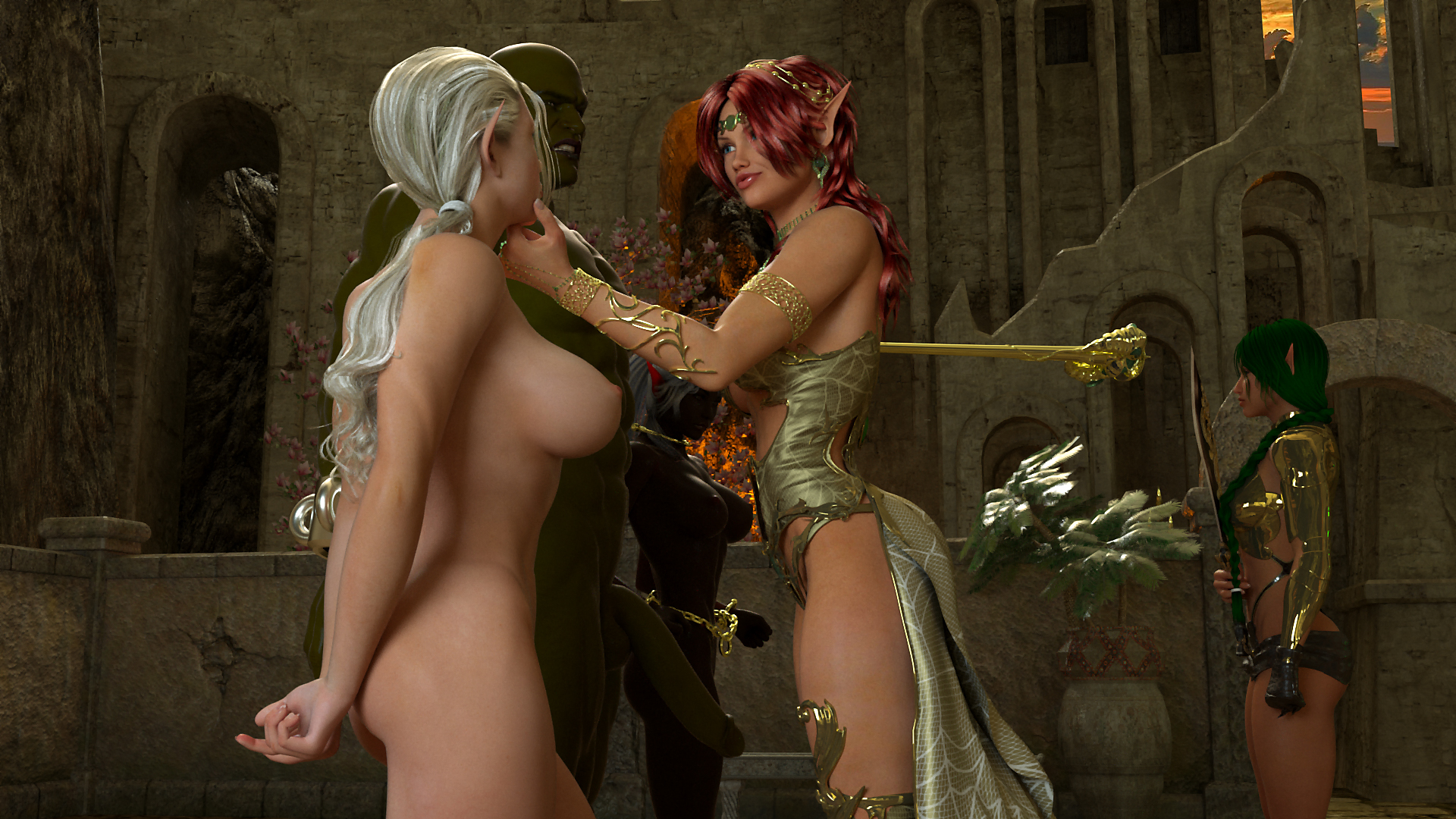 Amazons and elves erotic fucked clip