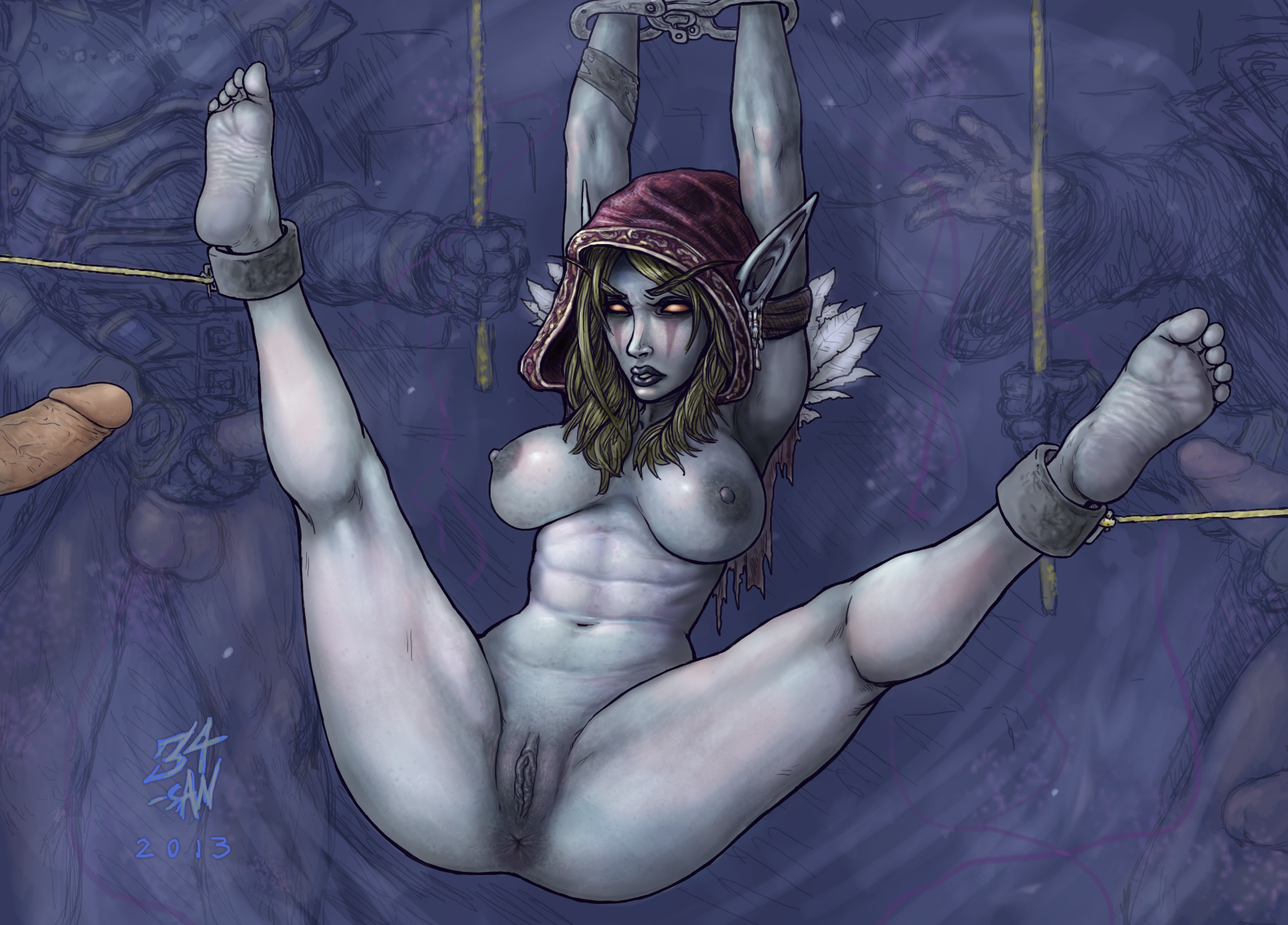 Sylvanas with tyrande nude sex comic