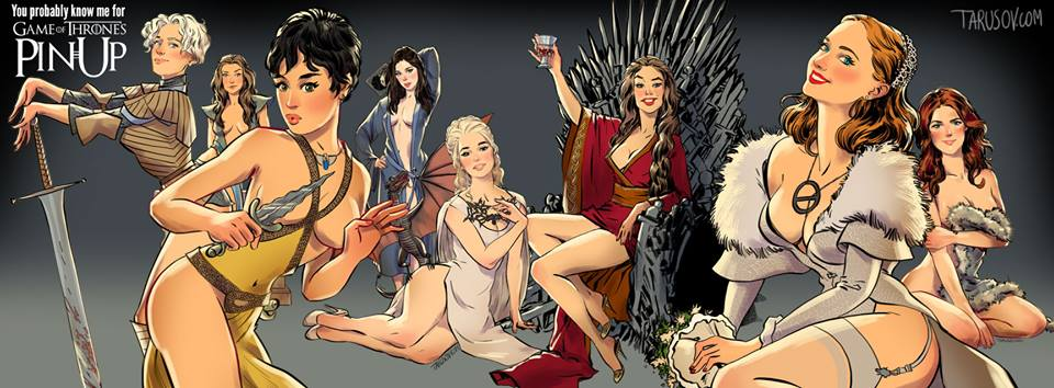 Game of Thrones Pin-Up by Andrew Tarusov