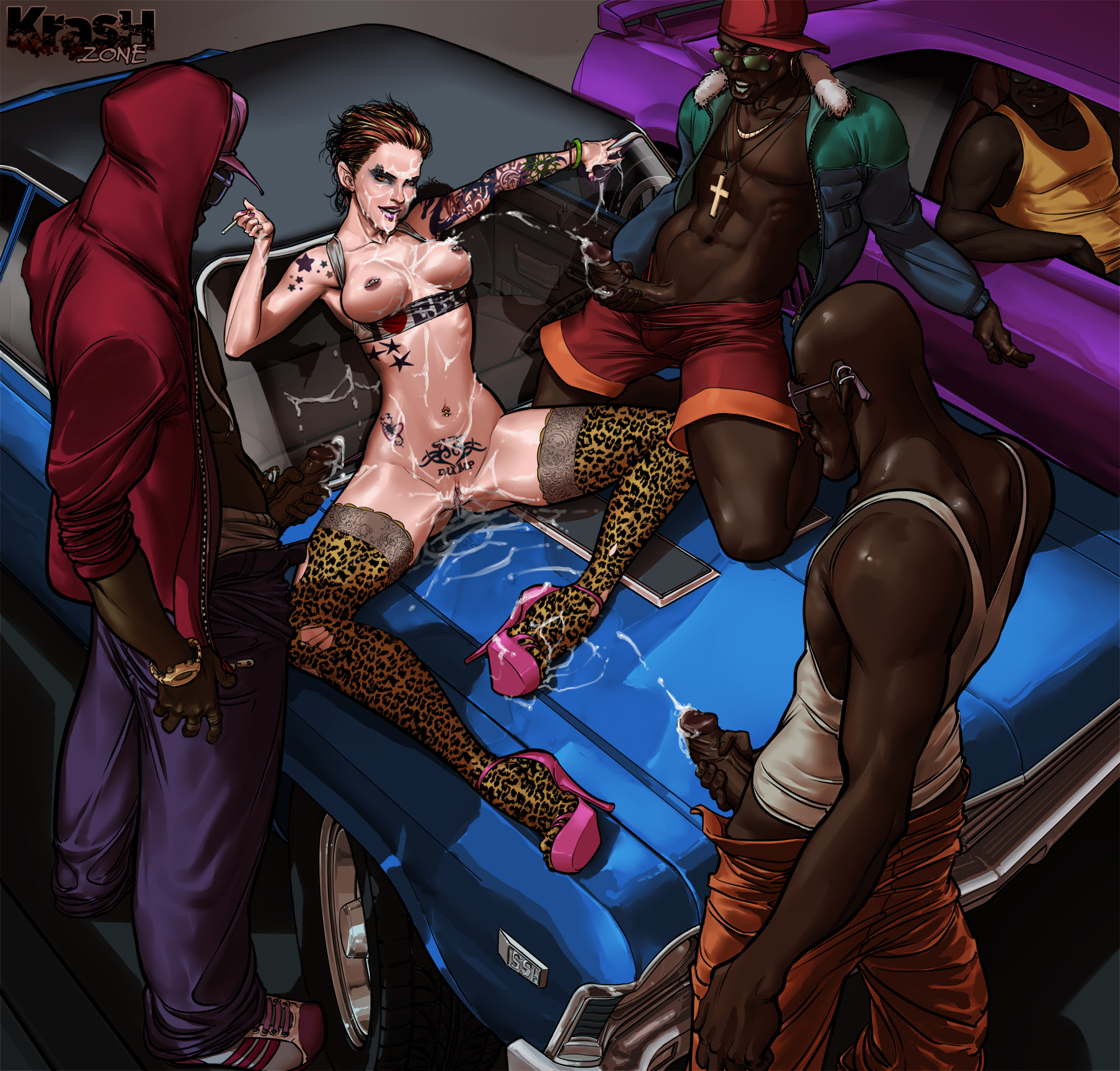 Back alley 3d interracial gangbang and some furry fucking 1