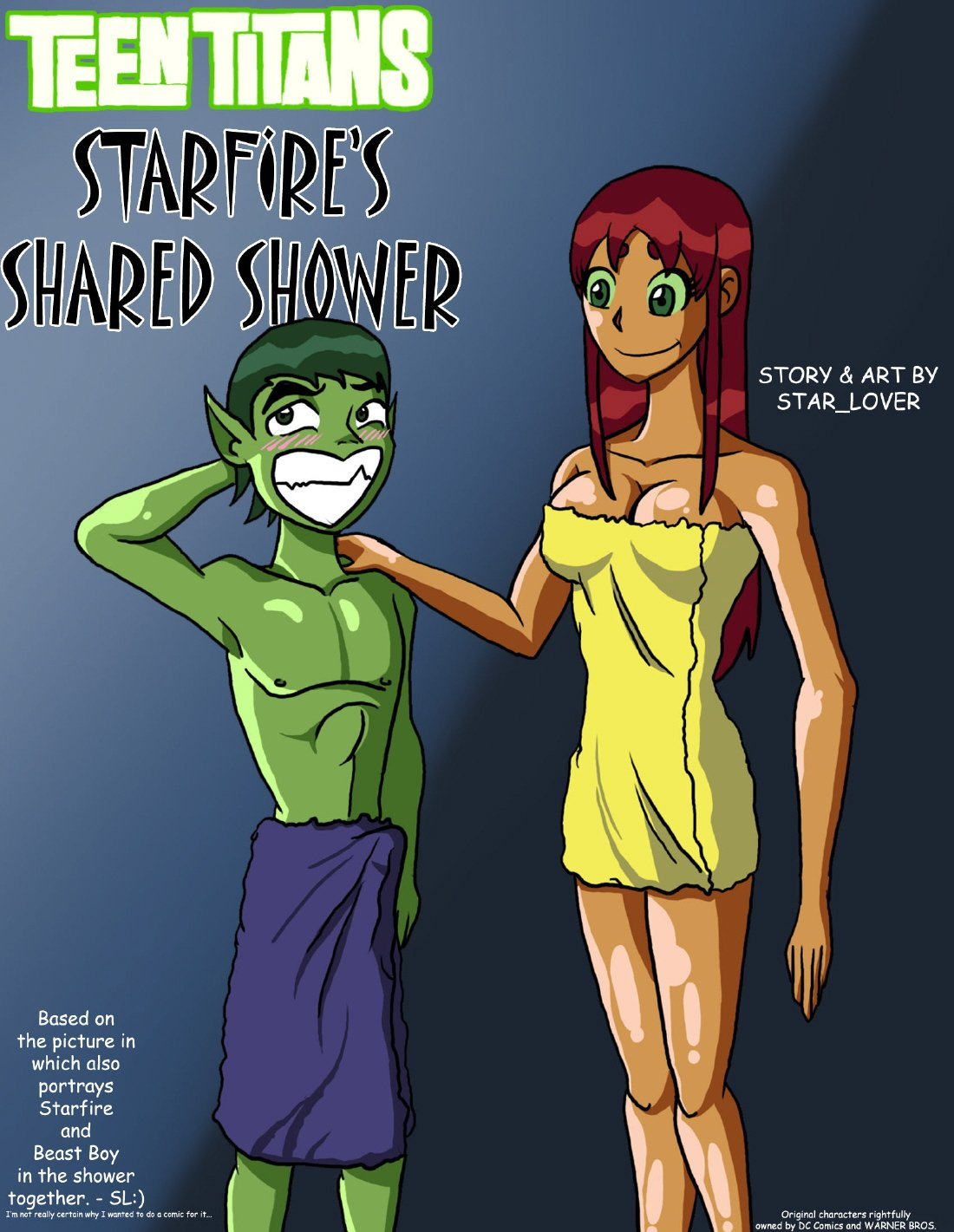 [Star Lover] Starfire's Shared Shower (Teen Titans)