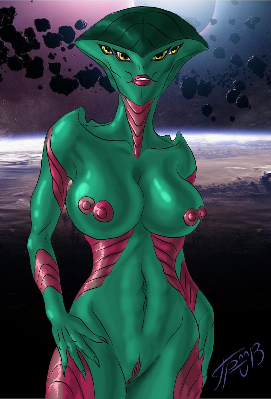 Sexy naked alien