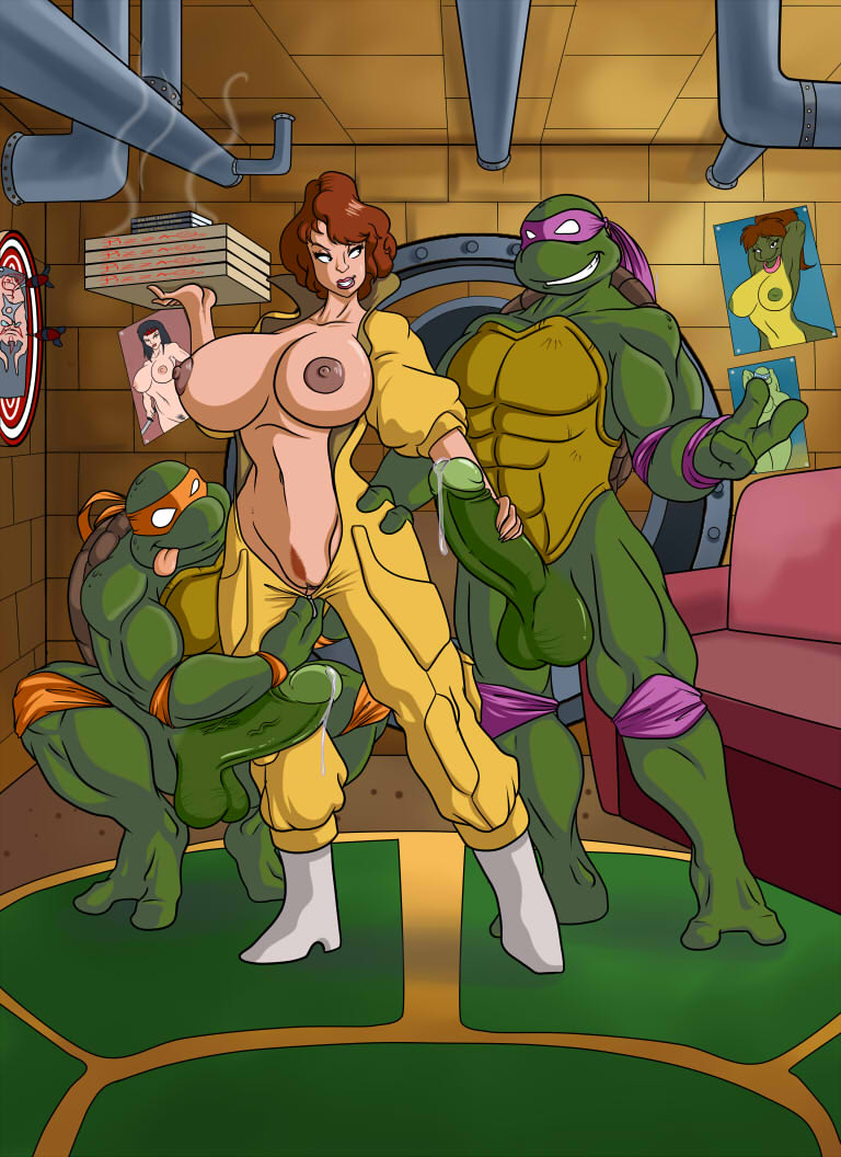 Women and nude girls on turtles pussy