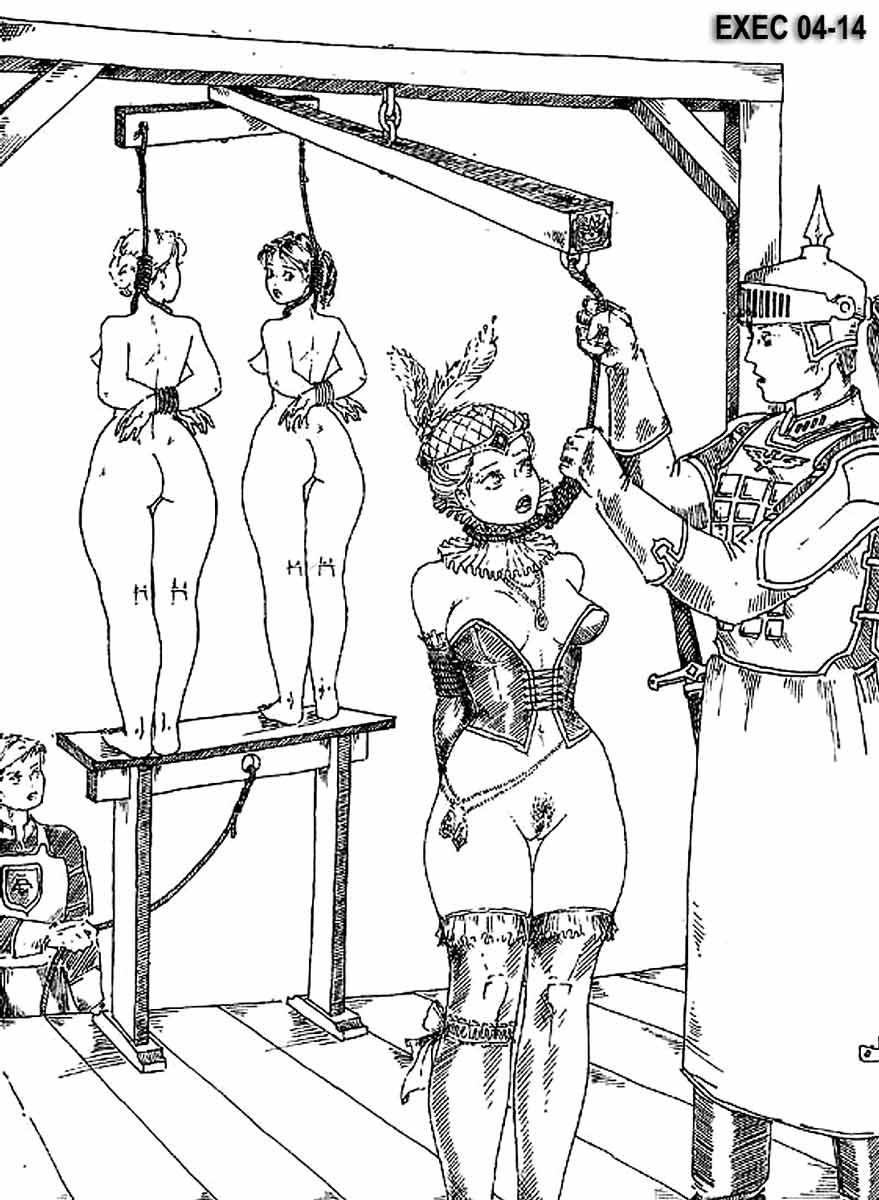 Рисунки пытки девушек 1 фотография