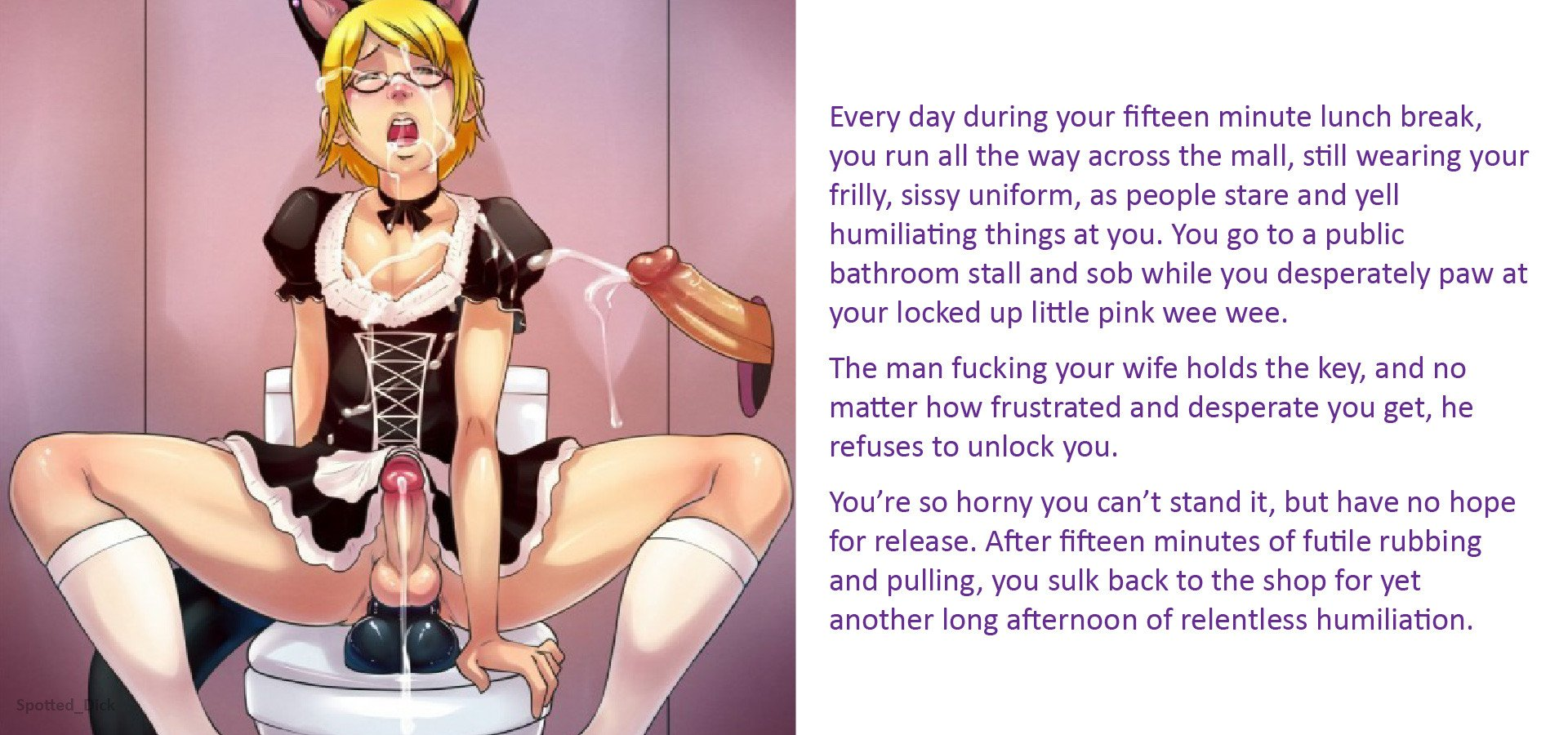 View Cuckold Sissy Captions - A Day in the Life - Hentai Porn free