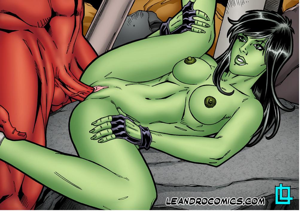 Hulk cartoon sex she