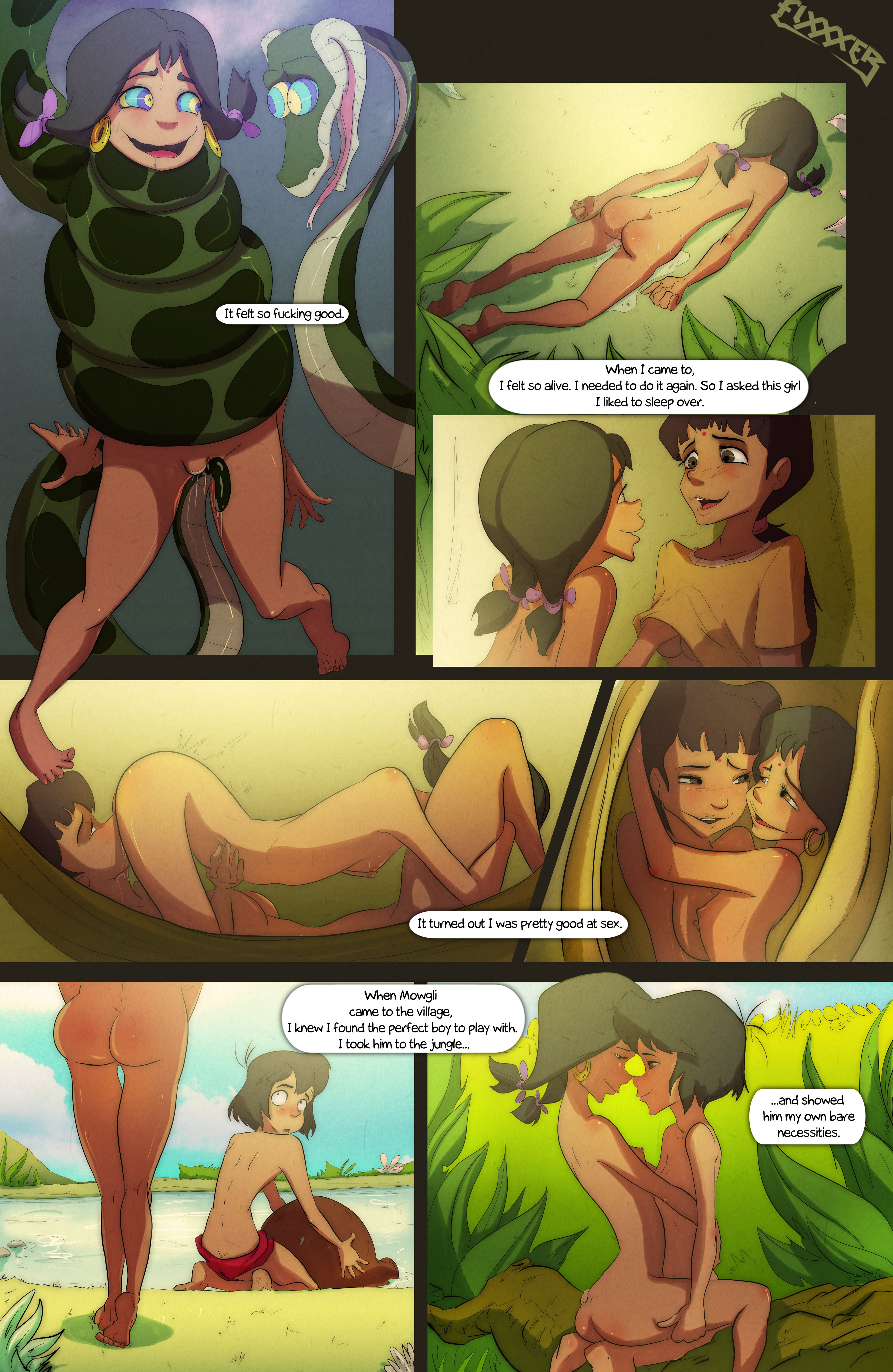 [Fixxxer] Bare Necessities (The Jungle Book) Hentai Online ...