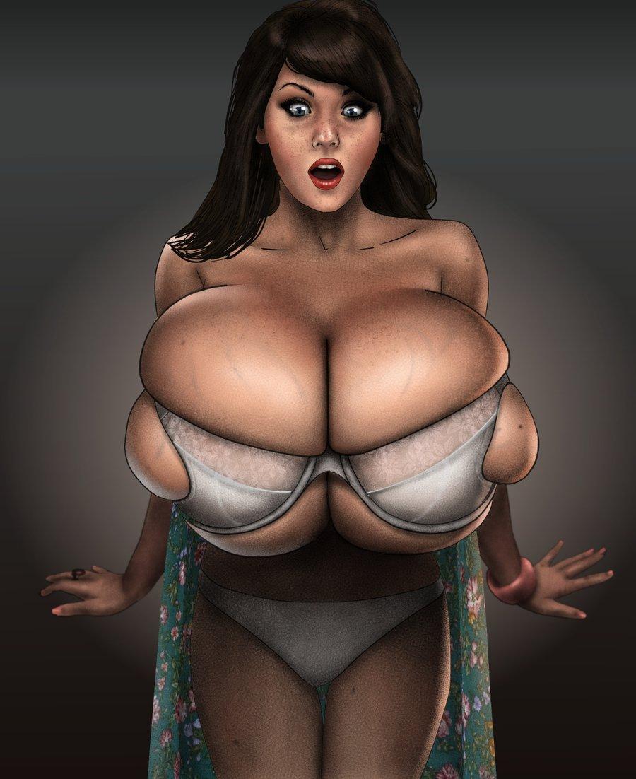 большими сиськами нарисованные телки с