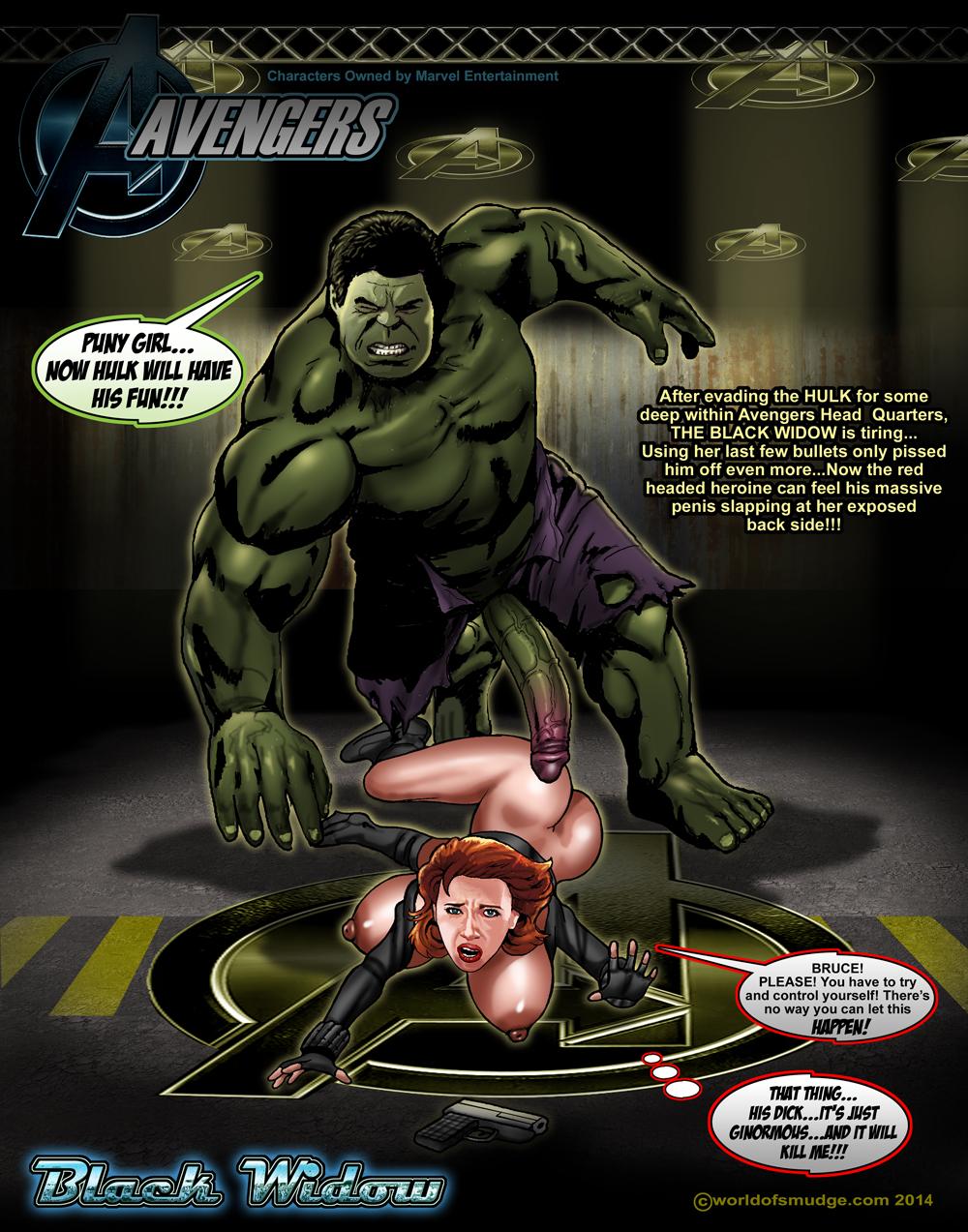 hulk fucks black widow