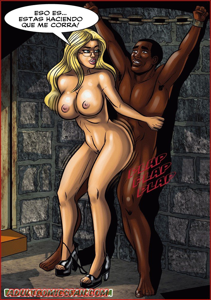 nude black man and white woman