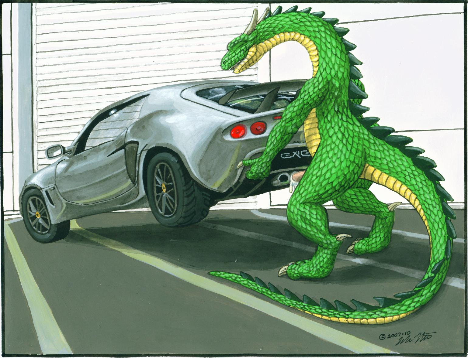 dragons fucking cars