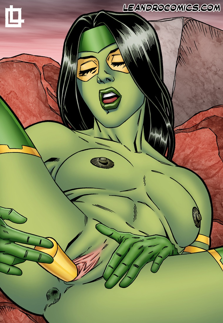 View [Leandro Comics] Gamora pleasures herself (Guardians ...