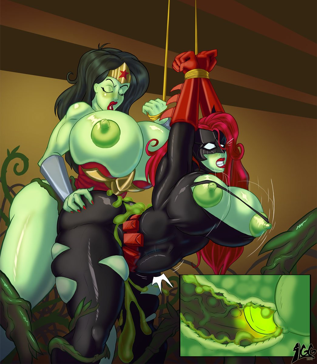 Harley quinn and poison ivy lesbian