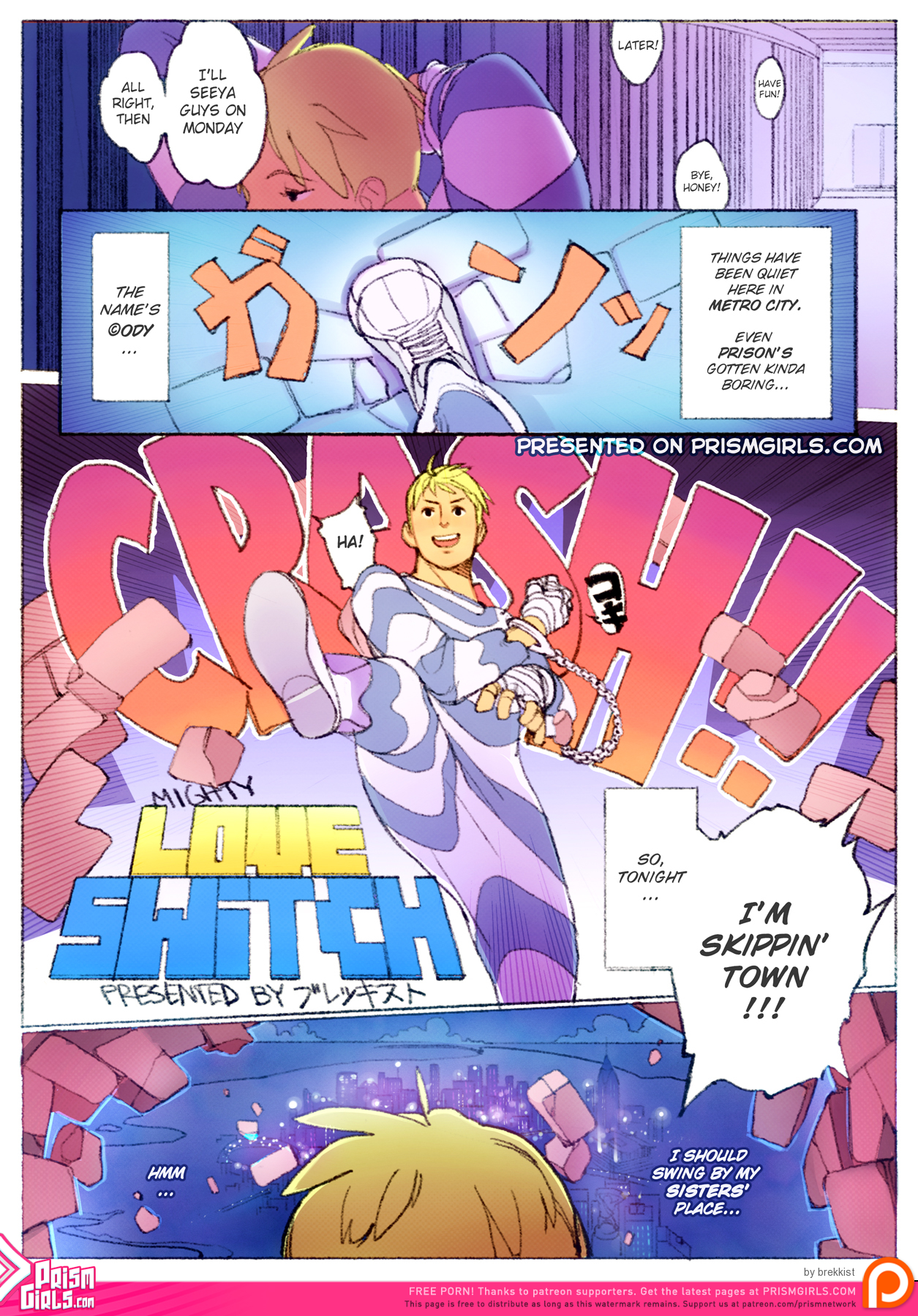 [Prism Girls (brekkist)] Mighty Love Switch (Mighty Switch Force!, Final Fight) [English]