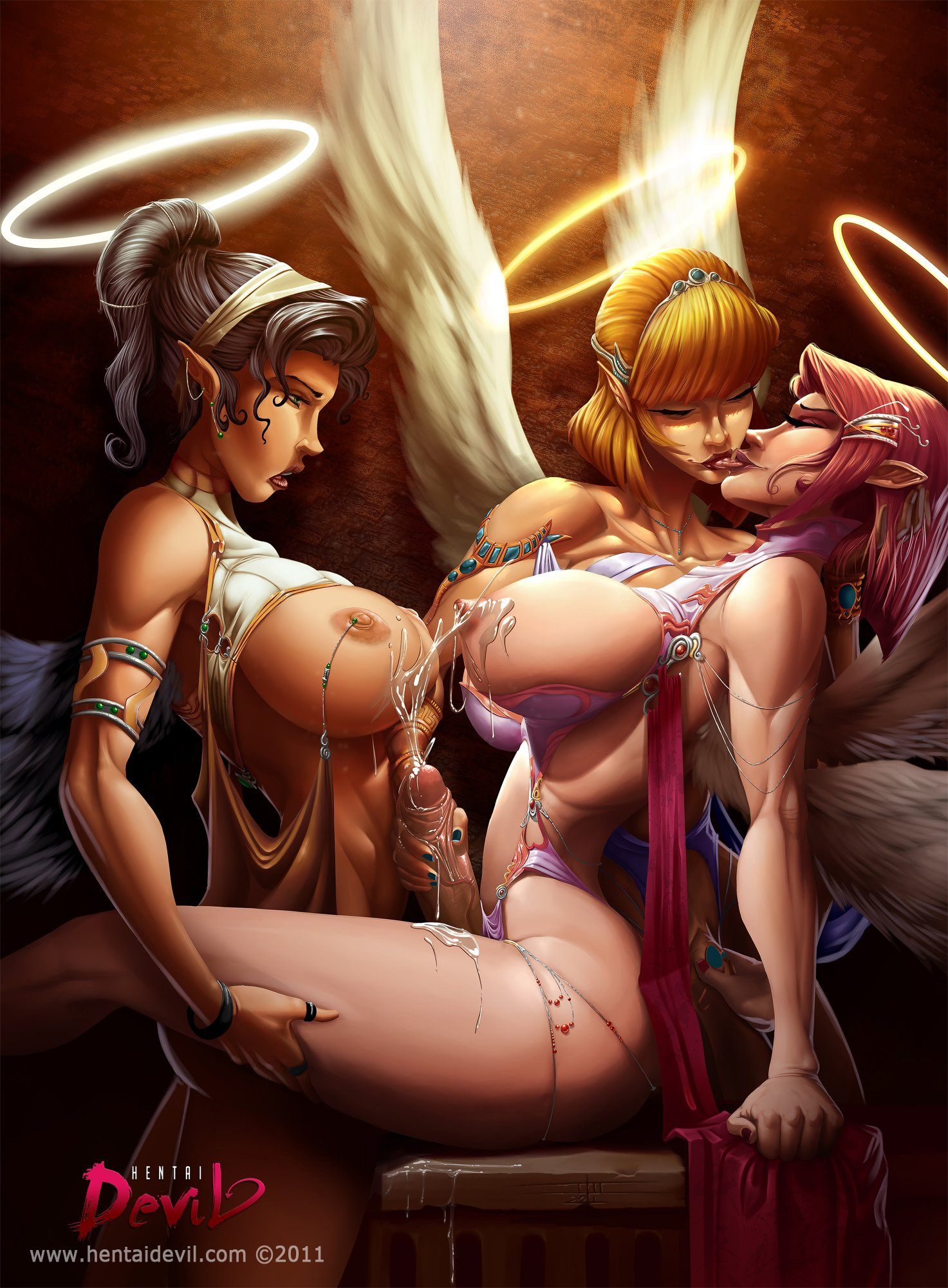 Hentai lesbian pic of devil angel nude streaming