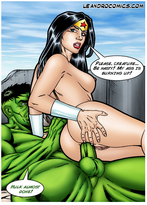 leandro comics wonder woman versus the incredibly horny