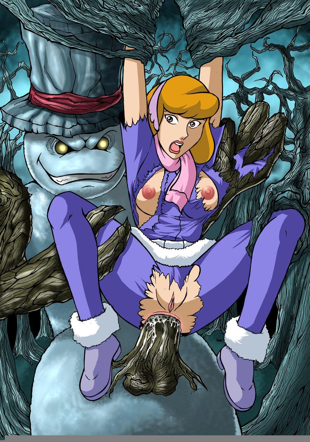 Daphne gets fucked by frankenstein's monster