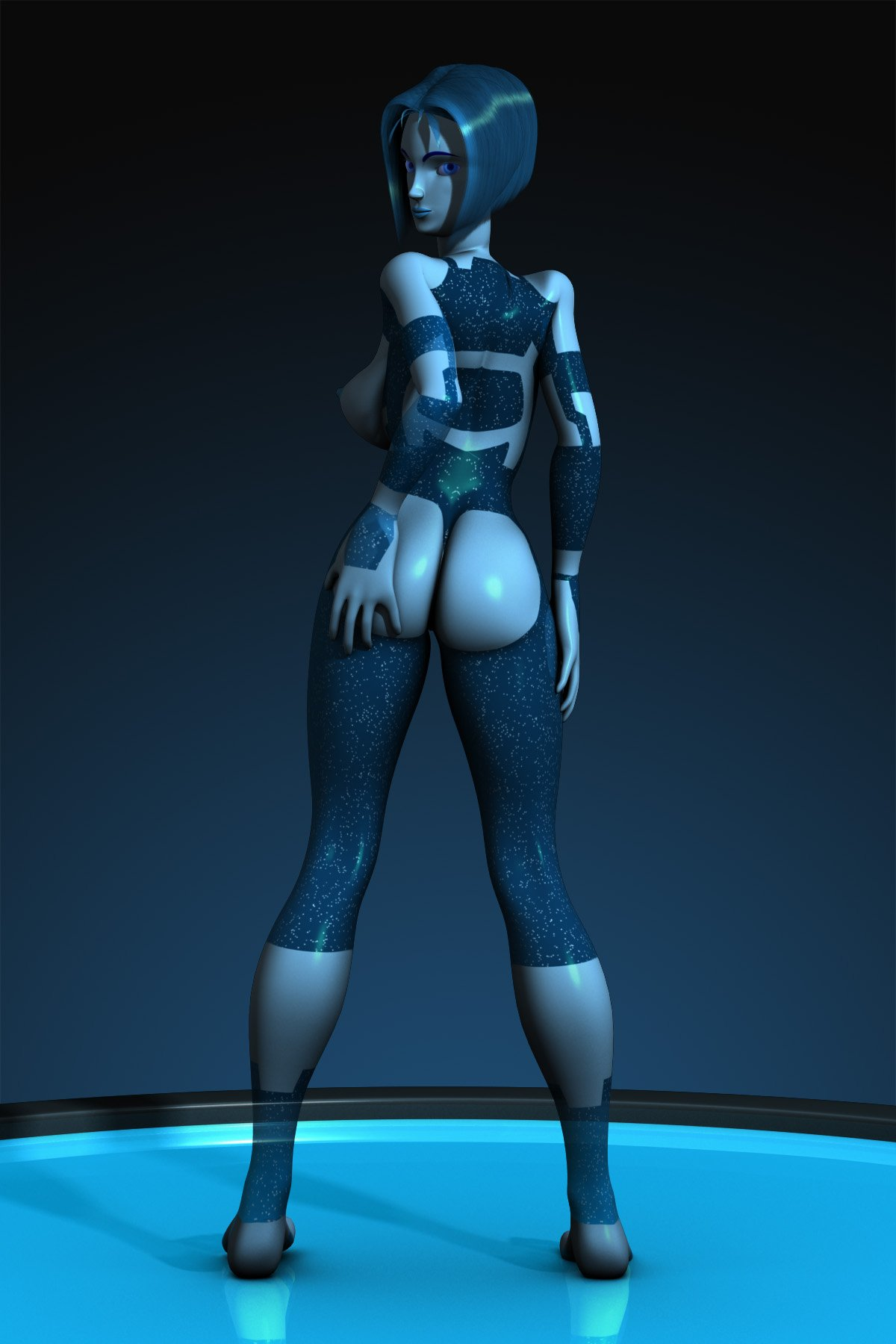 butt halo naked off Cortana