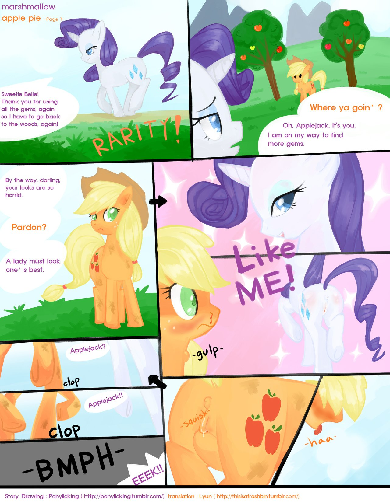 Apple Pie Porn read [pony licking] marshmallow apple pie (my little pony