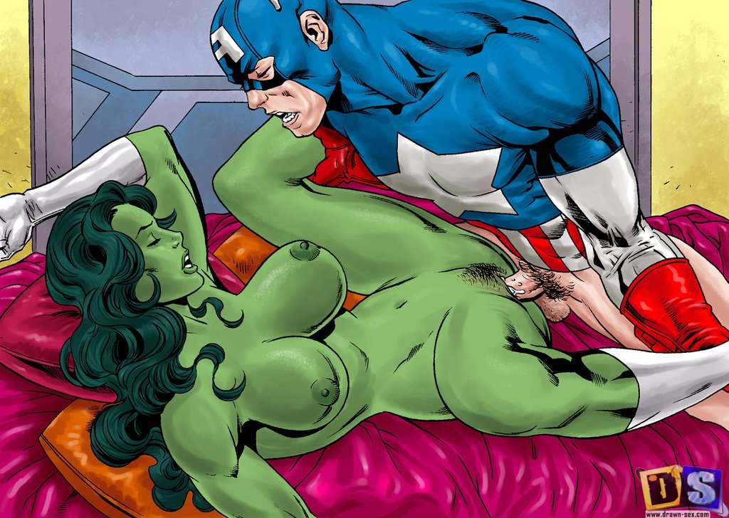 Super heros girls naked