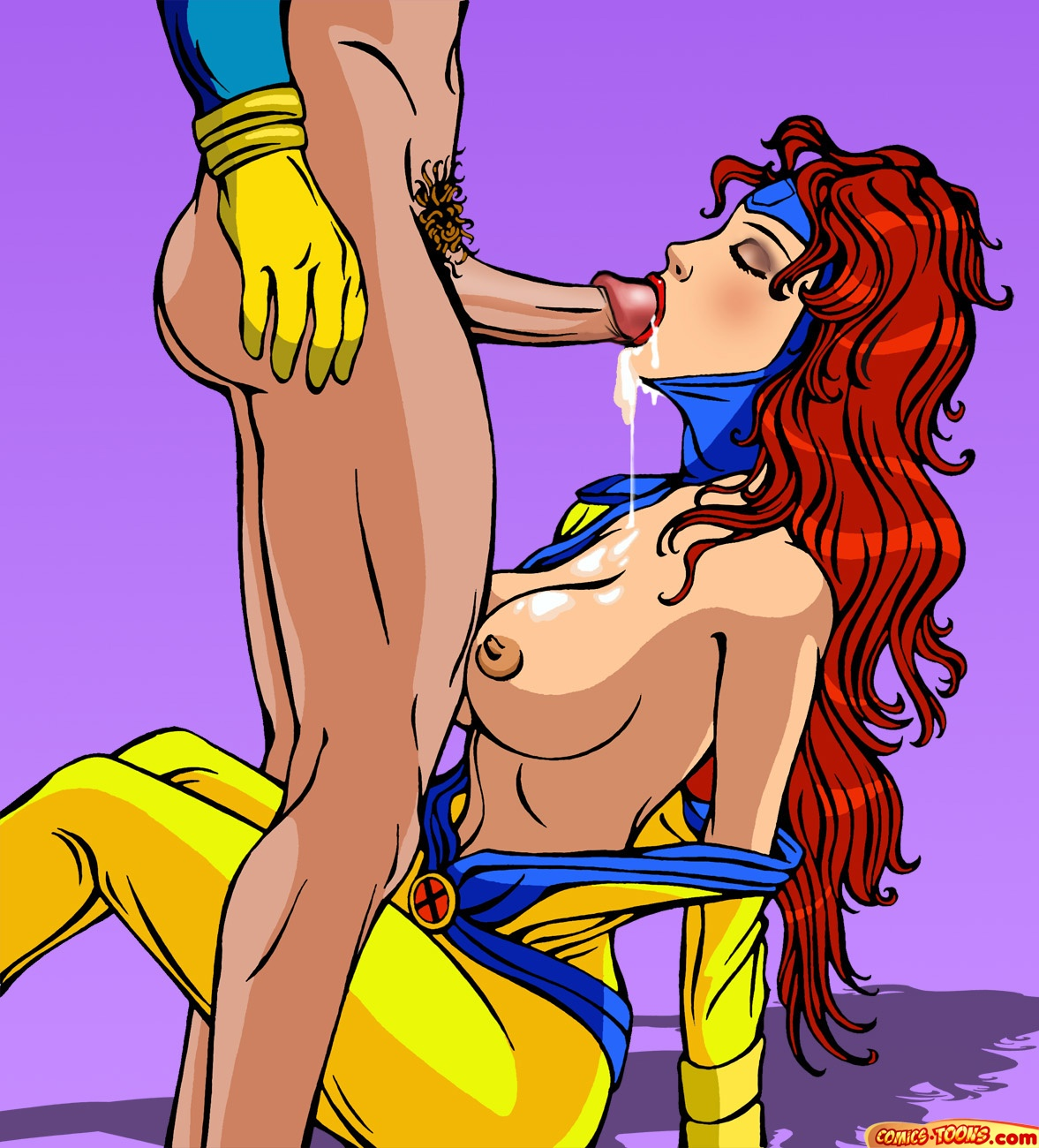 While jean grey is away cyclop's cock is used by storm