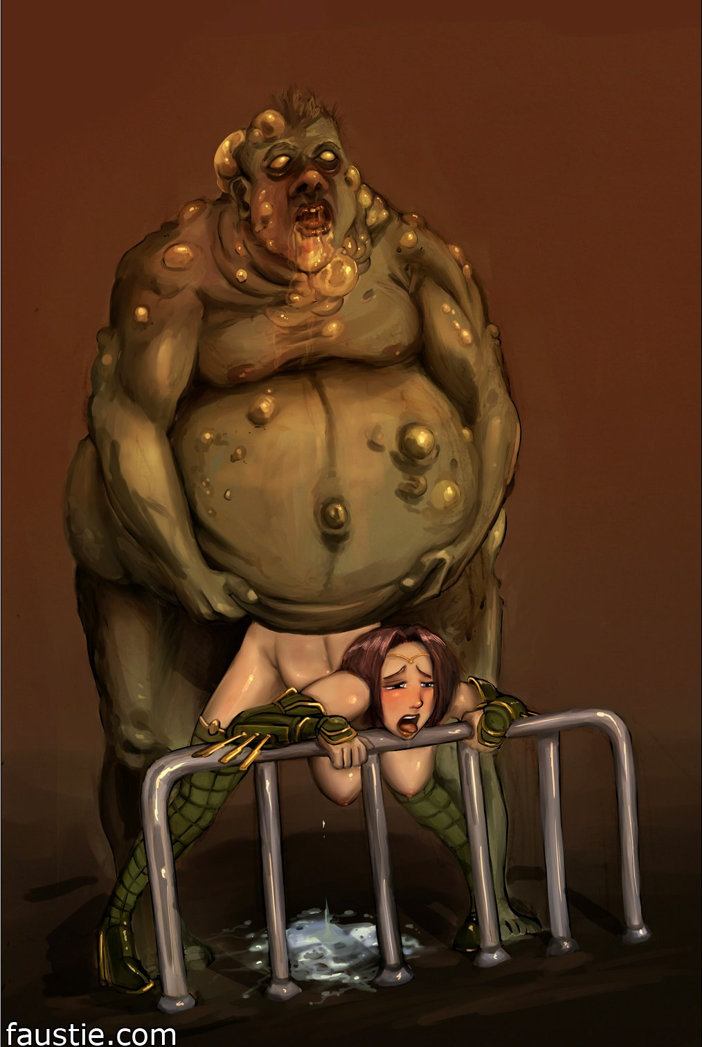 Porn fat monster