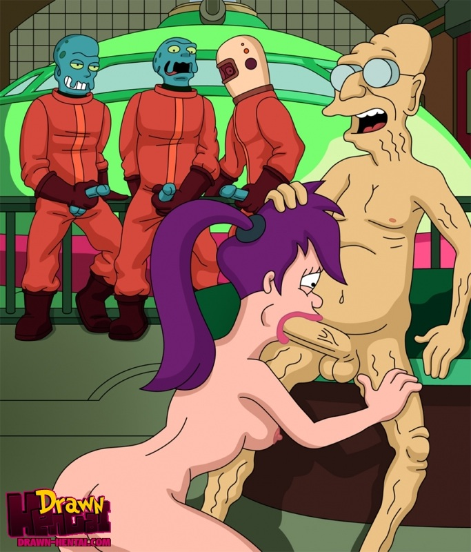 Futurama Leela Alien Porn Cum - [Drawn-Hentai] Hubert Farnsworth and Aliens fuck Leela (Futurama) Hentai  Online porn manga and Doujinshi