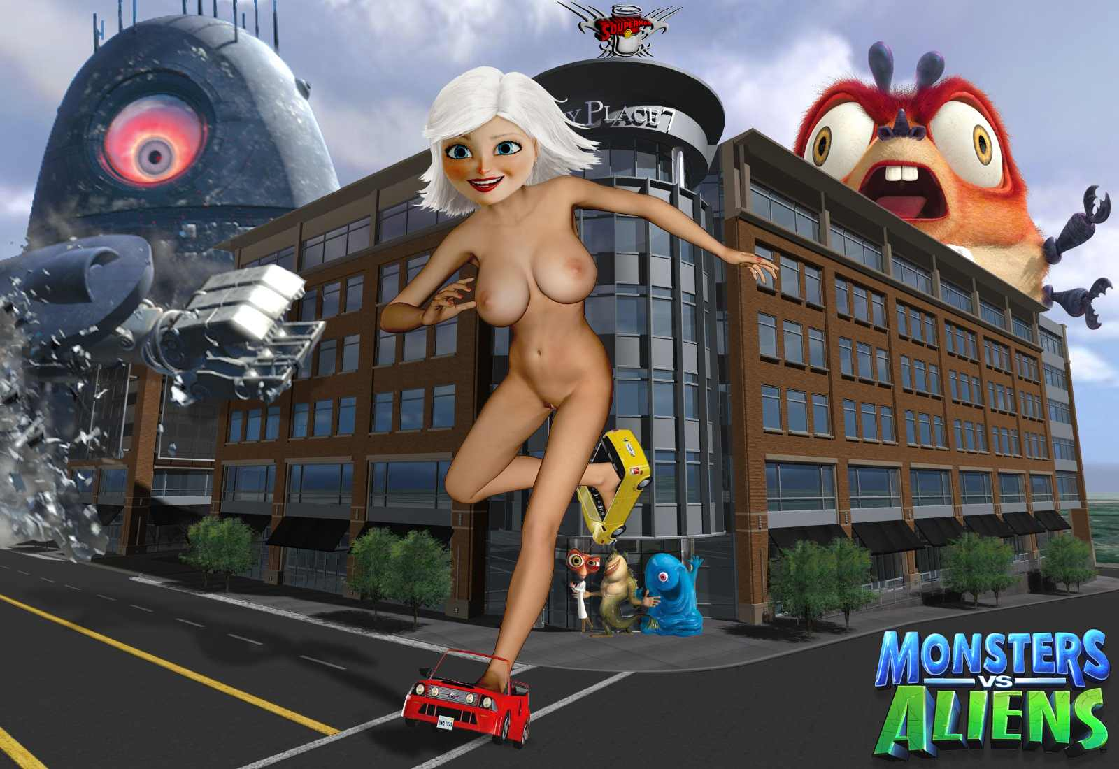 Monsters vs aliens erotic sexy comic