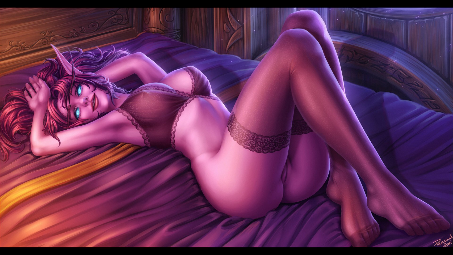 World of night elf hentai sexual clips