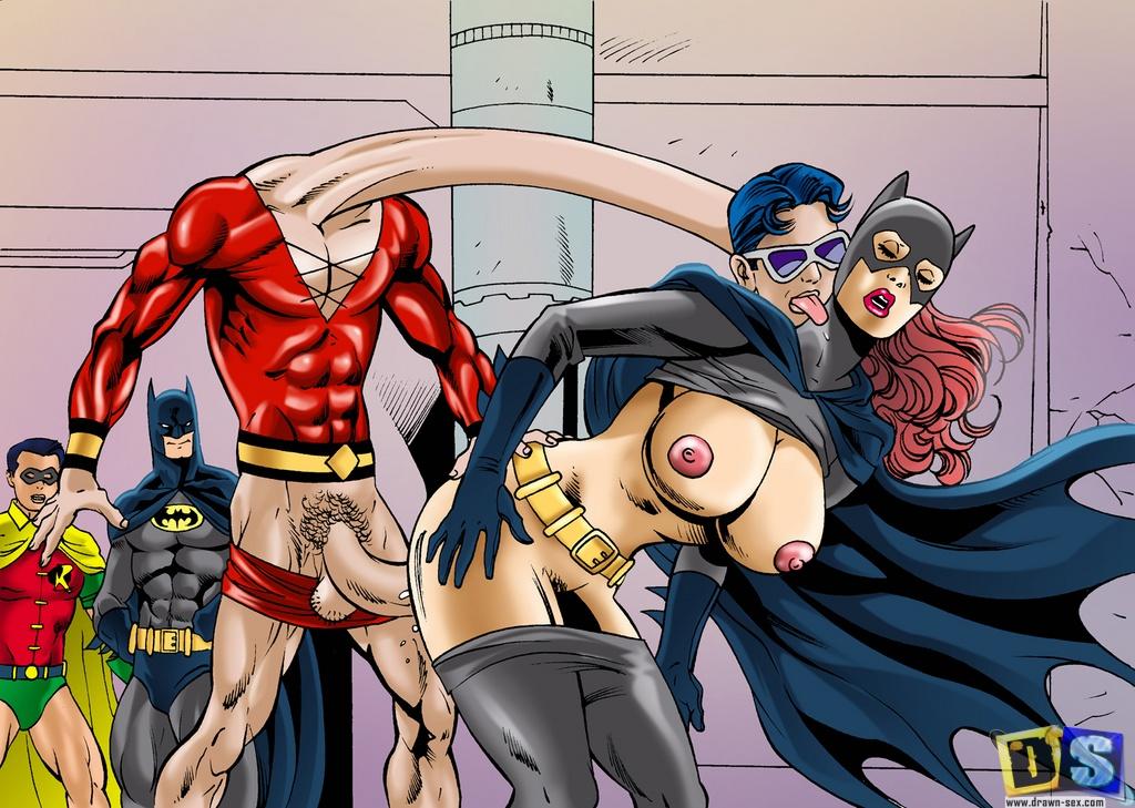 Порно бэтмен комиксы бетвоман