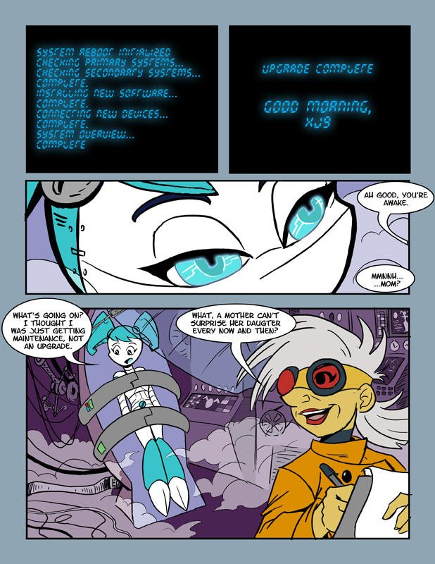 My Life As A Teenage Robot- Unknown Comic + Extra