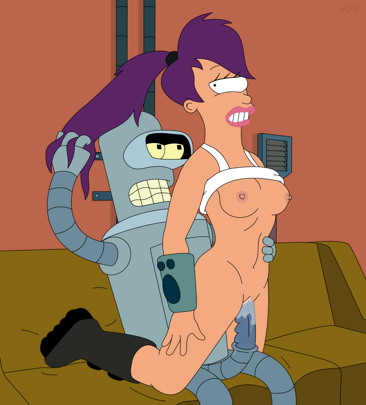 Futurama porn bender and leela