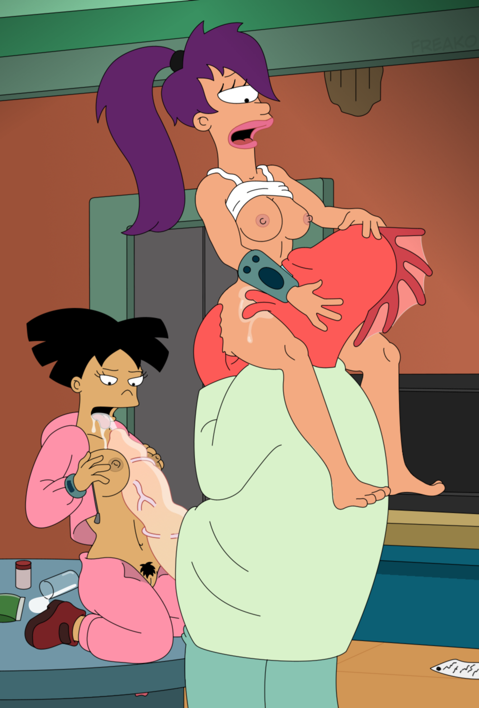 Порно футурама лила и доктор