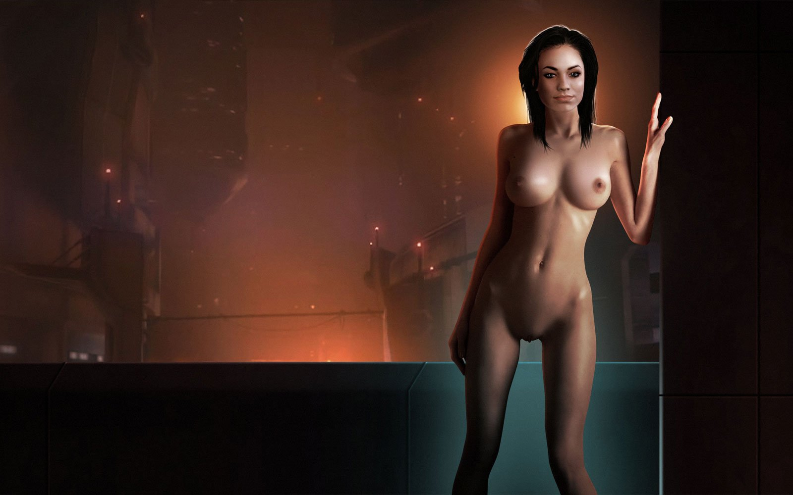 sexy nude mass effect girls