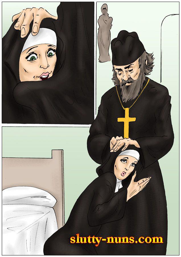 Монахиня порно рисованные картинки — 9