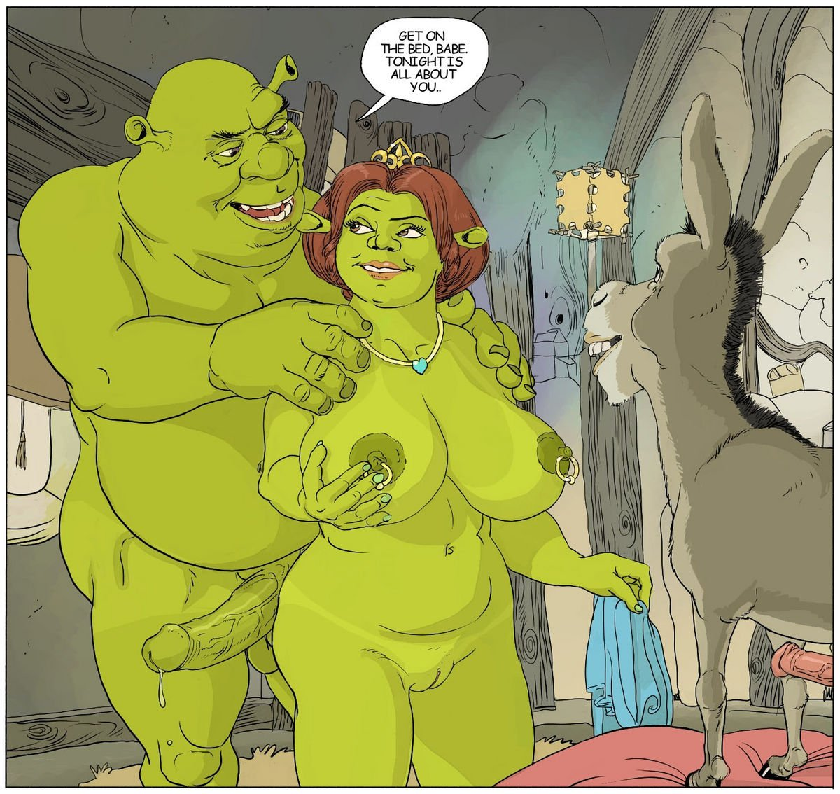 Shrek Fucked In The Ass His Sexy Girlfriend Fiona