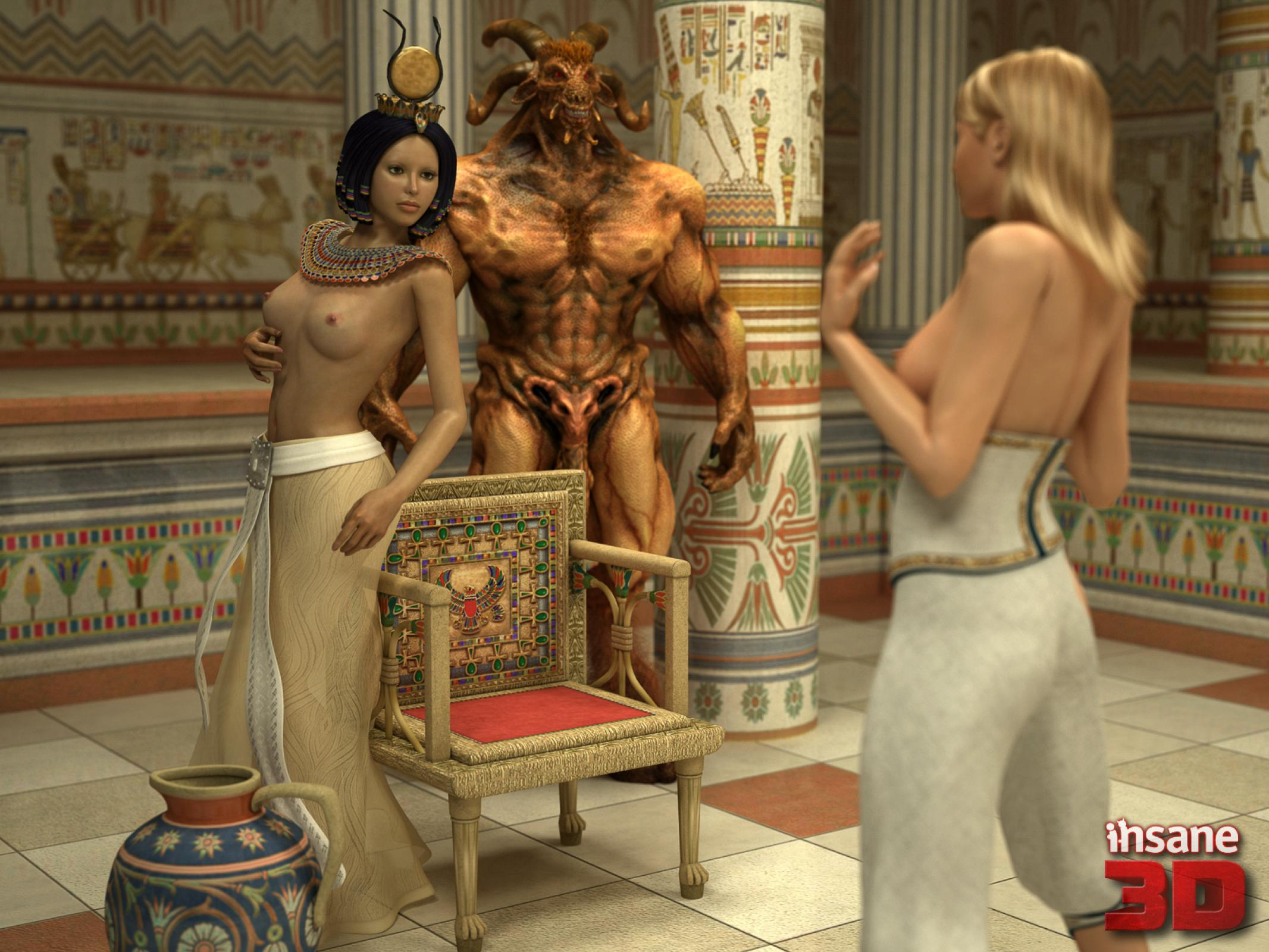 Ancient egyptian 3some with cindy carver and joy cummings 2