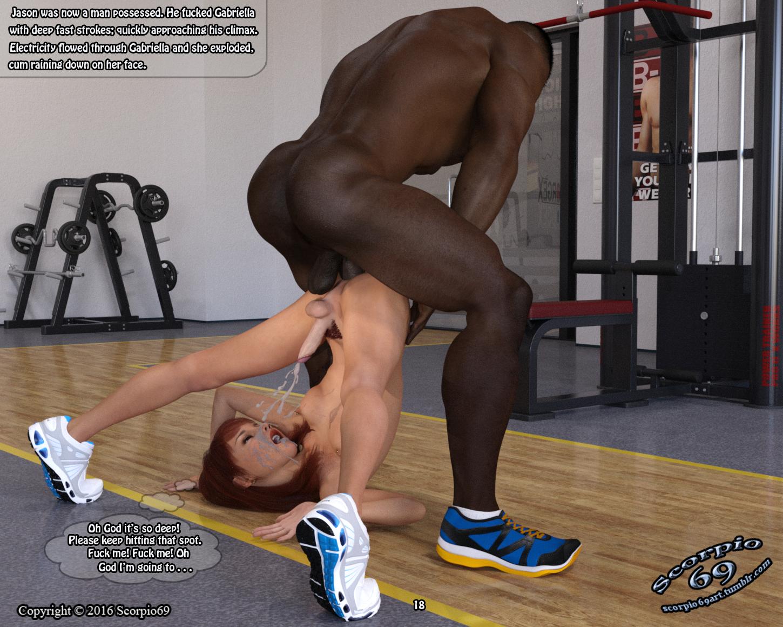 Gay sex encounter in gym