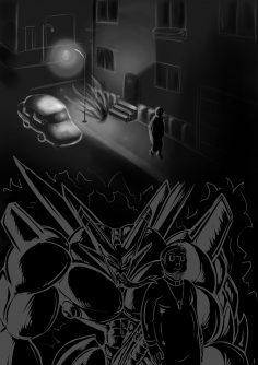 Robot Demon transformation comic by Dragmon