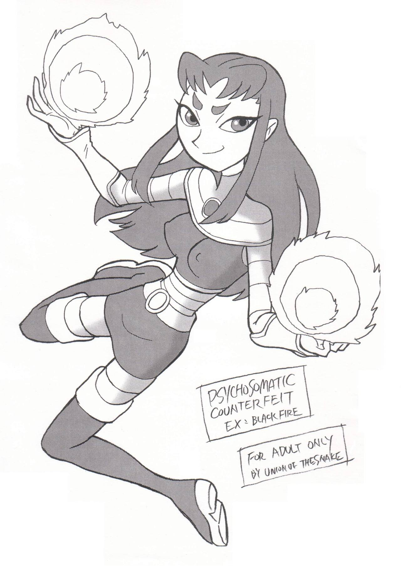 [Union Of The Snake (Shinda Mane)] Psychosomatic Counterfeit Ex: Blackfire (Teen Titans)