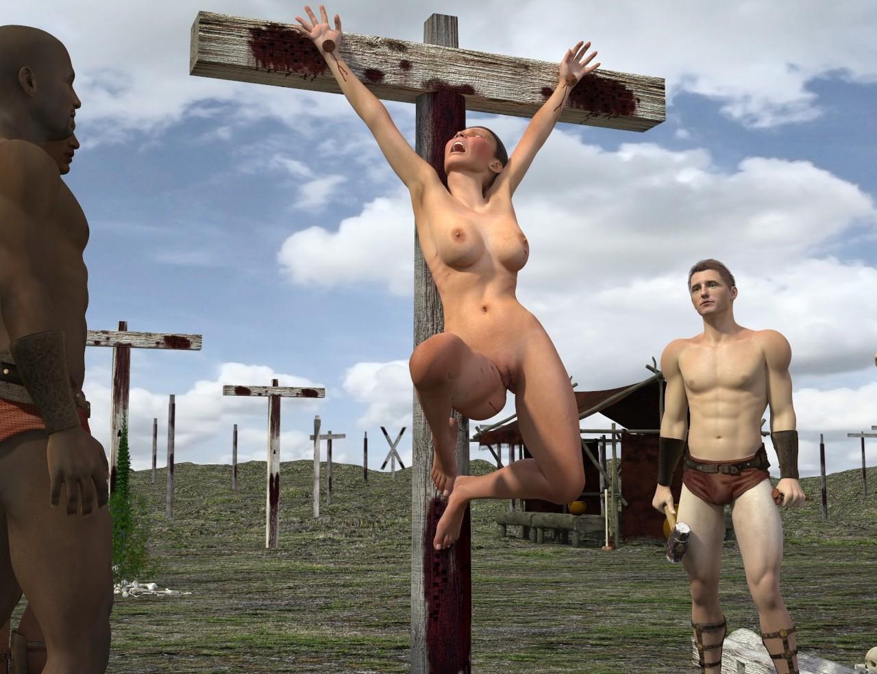 Sabina Nailed To Her Cross Hentai Online Porn Manga Nude Picture | BLueDols
