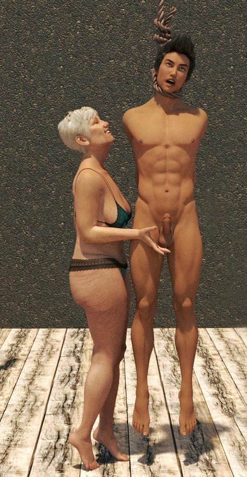 Nude men hanged